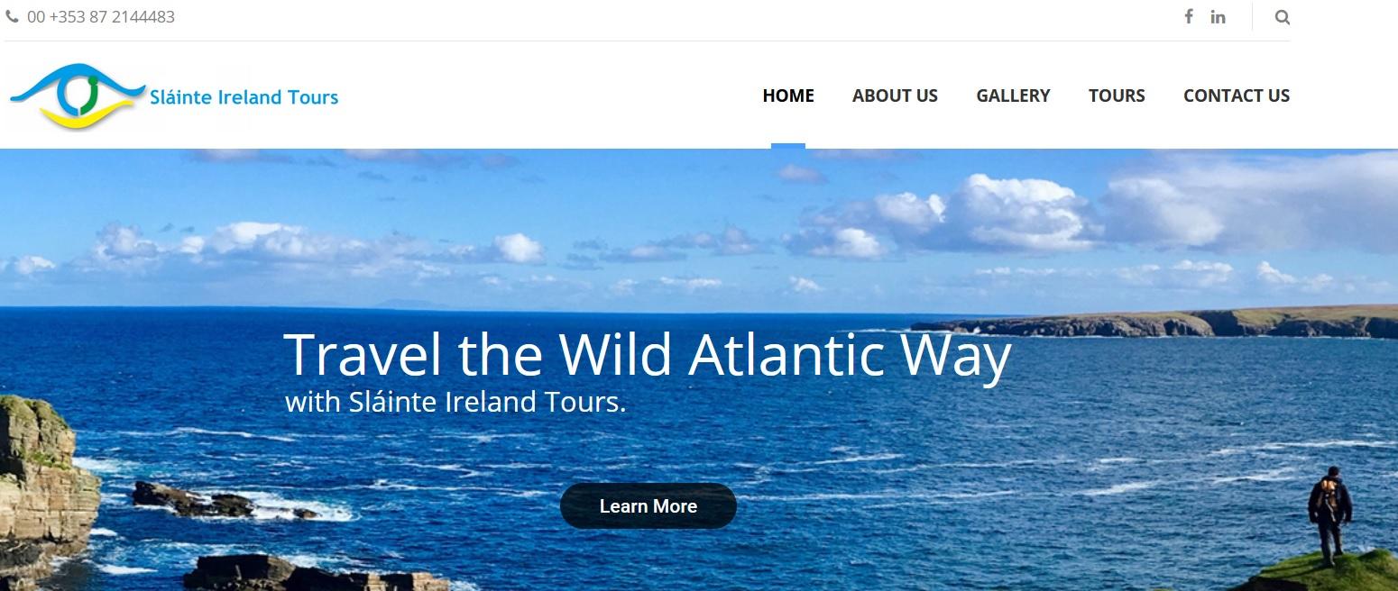 Slainter Ireland Tours - WriteinSite Web Management Mayo